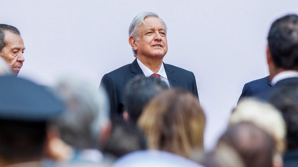 """""""Antes muerto que traidor"""": AMLO - Andrés Manuel López Obrador en el informe de sus primeros 100 días de Gobierno. Foto de Notimex"""