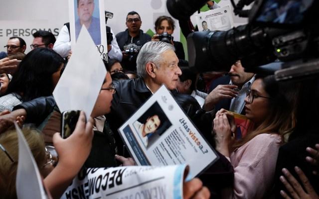 López Obrador urge identificación de 26 mil cuerpos en instituciones forenses - El presidente Andrés Manuel López Obrador encabezó la reinstalación del Sistema Nacional de Búsqueda, en Palacio Nacional. Foto de Notimex