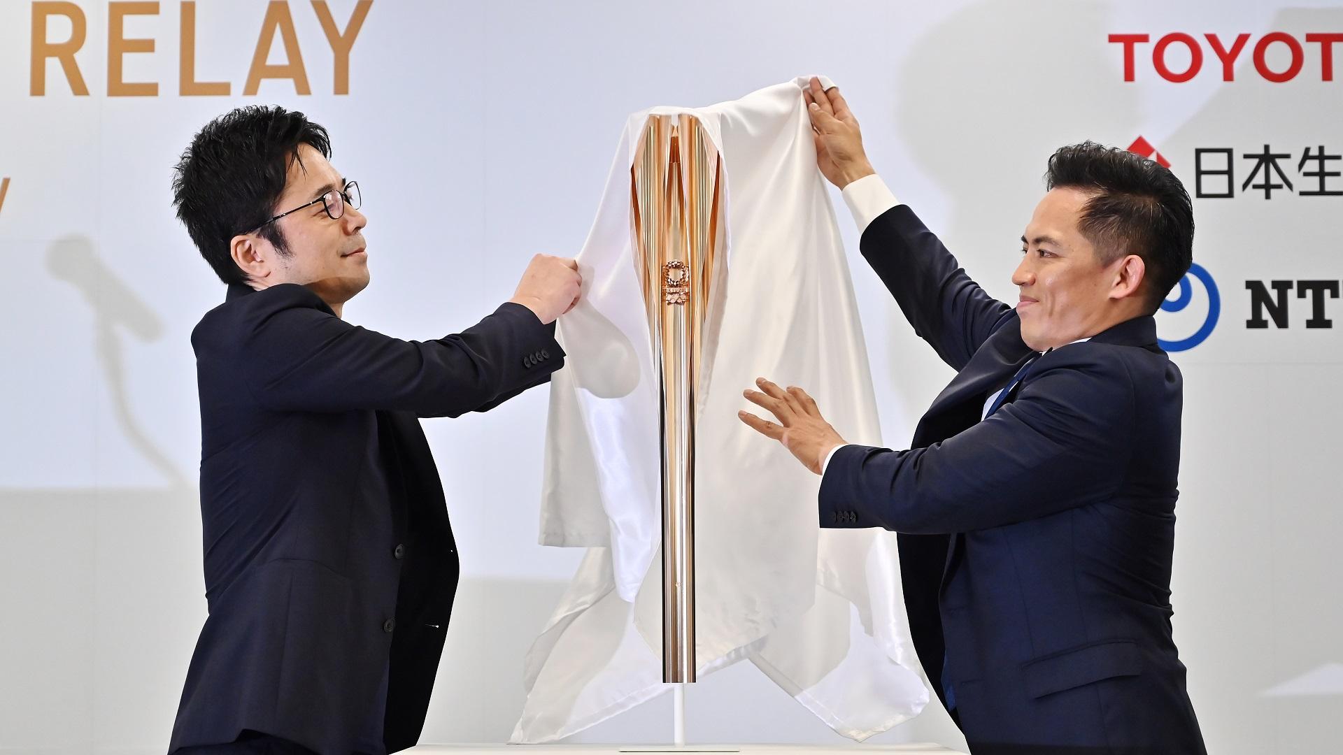 Presentación de la antorcha olímpica de Tokio 2020. Foto de AFP / Charly Triballeau