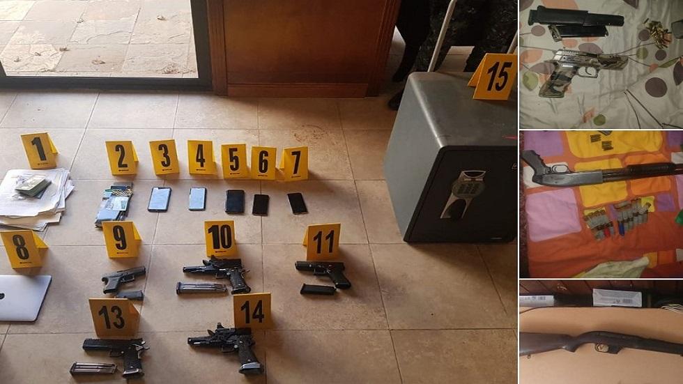 Armas decomisadas. Foto de @MPguatemala
