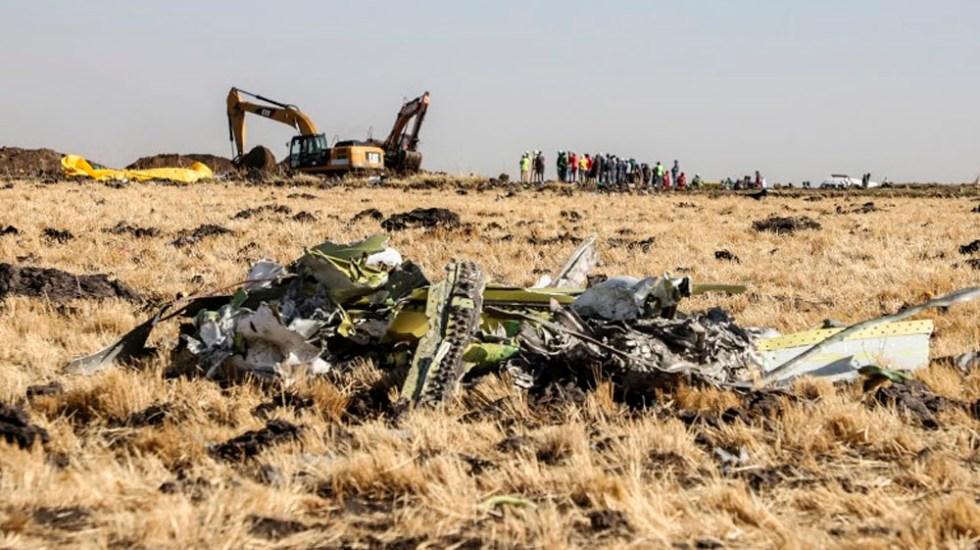 Trasladan a París las cajas negras del avión de Ethiopian Airlines - Accidente de avión en Etiopía. Foto de Michael TEWELDE / AFP