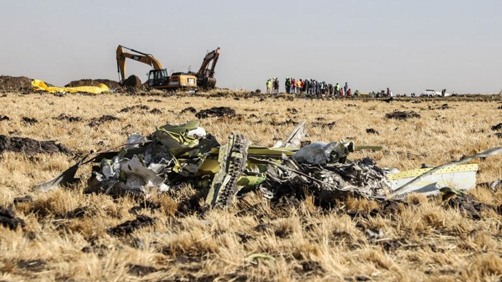 Accidente de avión en Etiopía. Foto de Michael TEWELDE / AFP