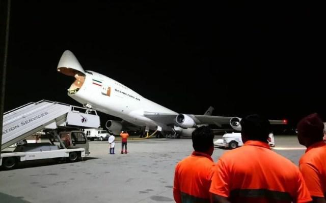 Se accidenta el único Boeing 747 iraní - avión dañado irán