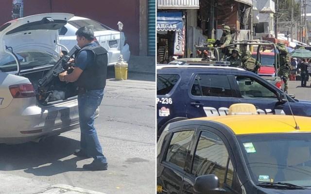 Enfrentamiento en mercado de Puebla deja varios detenidos - Foto de Televisa Puebla