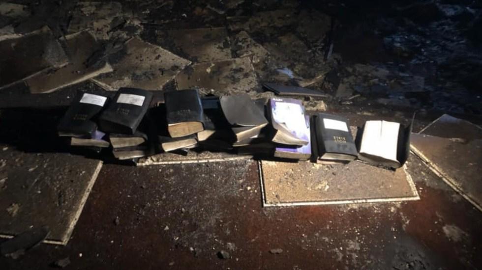 Biblias y crucifijos quedan intactos tras incendio en iglesia de EE.UU. - Foto de Coal City Fire Department