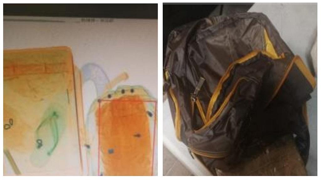 Decomisan tres kilos de heroína en el AICM - Cargamento de heroína. Foto de @PoliciaFedMx