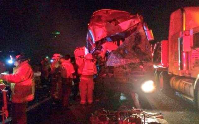 Choque de autobús con tráiler en Jalisco deja 13 lesionados - choque autobús trailer lesionados jalisco