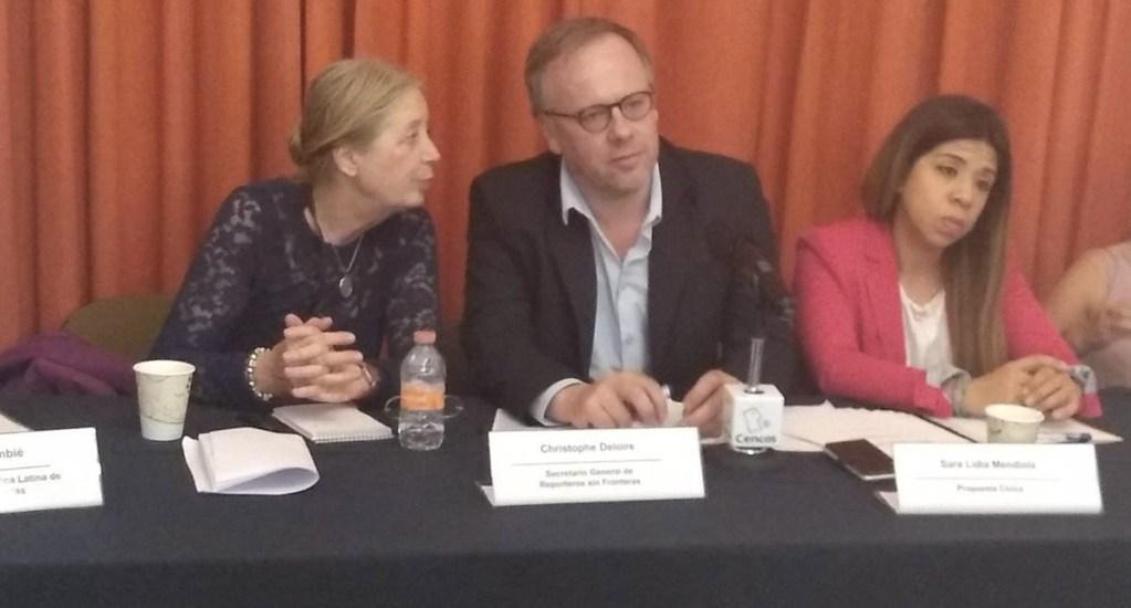 Piden llevar a Corte Internacional 5 casos de periodistas violentados - Christophe Deloire, secretario general de Reporteros Sin Fronteras. Foto de @cencos