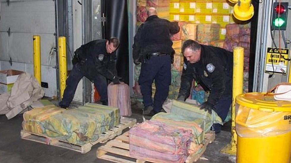 Anuncian la mayor incautación de cocaína en Nueva York en 25 años - Foto de CBP