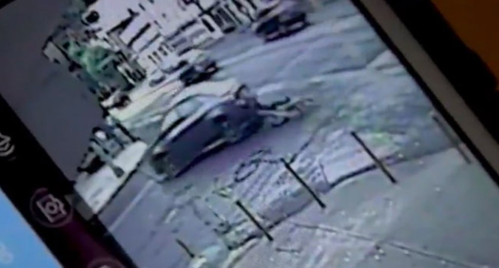 #Video Atropellan a ciclista en el mismo lugar del accidente del scooter - Captura de pantalla