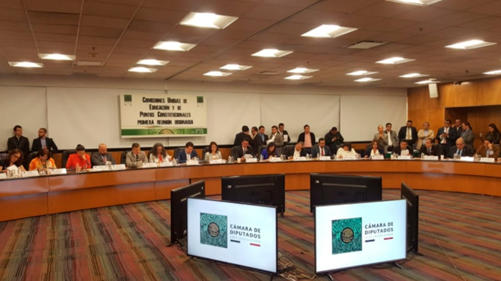 Comisiones aprueban dictamen de Reforma Educativa - Foto de @RutaElectoralMx