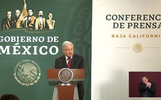 Operativo del Gobierno Federal redujo homicidios en Tijuana: AMLO - Conferencia AMLO 27 de marzo en Tijuana. Captura de pantalla