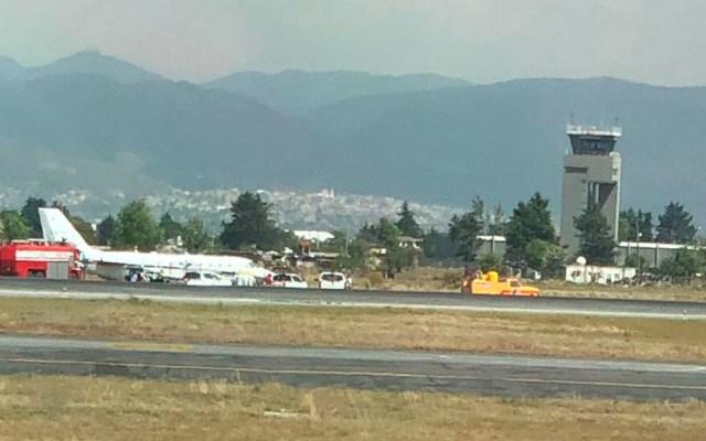 Cierran pista del aeropuerto de Toluca tras incidente - Foto de Carlos Jimenez Roque