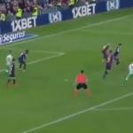 Asistencia de Diego Lainez contra Barcelona