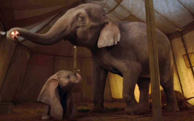 #Video Dumbo tendrá cover de 'Baby Mine' de Arcade Fire - Dumbo con su mamá. Captura de pantalla