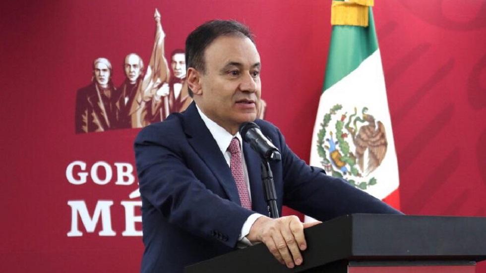 Durazo en conferencia de prensa. Foto de @SSPCMexico