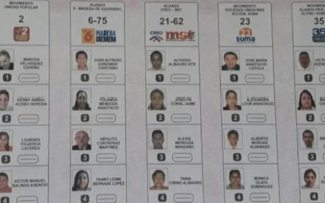 Candidato muerto gana elecciones locales en Ecuador - Boleta para la elección de la comunidad de Juan Gómez Rendón en Guayas. Foto de Expreso de Ecuador