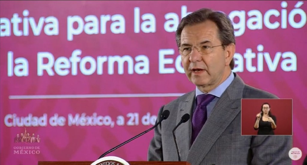 SEP y Secretaría de Bienestar, las que más presupuesto tendrían en 2021 - Esteban Moctezuma. Captura de pantalla