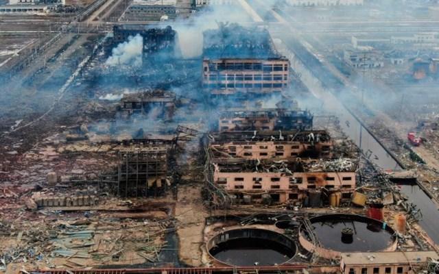 China cerrará parque industrial donde explosión mató a 78 personas - Foto de AFP