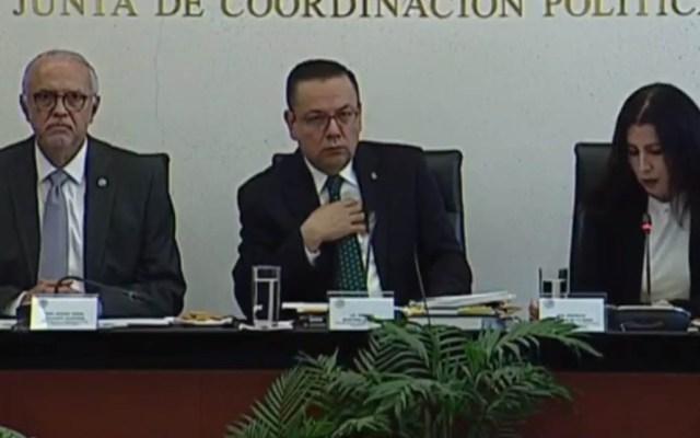 IMSS exhibe a deudores de cuotas obrero-patronales - Germán Martínez, titular del IMSS, en comparecencia en el Senado. Captura de pantalla