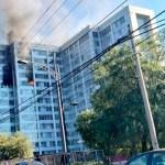 Incendio en edificio de Conagua en Insurgentes - Foto de @FranciscoBurgoa