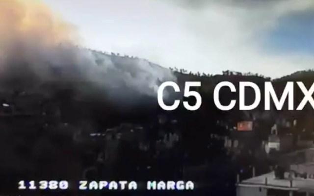 Se incendia pastizal en Cuajimalpa - Captura de pantalla