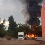 Controlan incendio en predio de Puebla - Foto de @JavierLopezDiaz