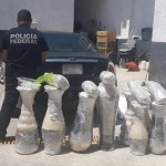 Encuentran mariguana oculta en jarrones decorativos en Michoacán - Foto de Policía Federal