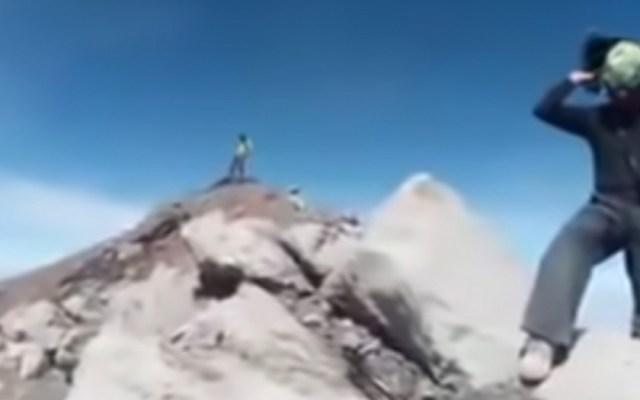 Protección Civil busca a quienes se grabaron en el Popocatépetl - jóvenes popocatépetl protección civil