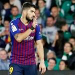Luis Suárez causará baja 15 días por esguince - Foto de @FCBarcelona_es