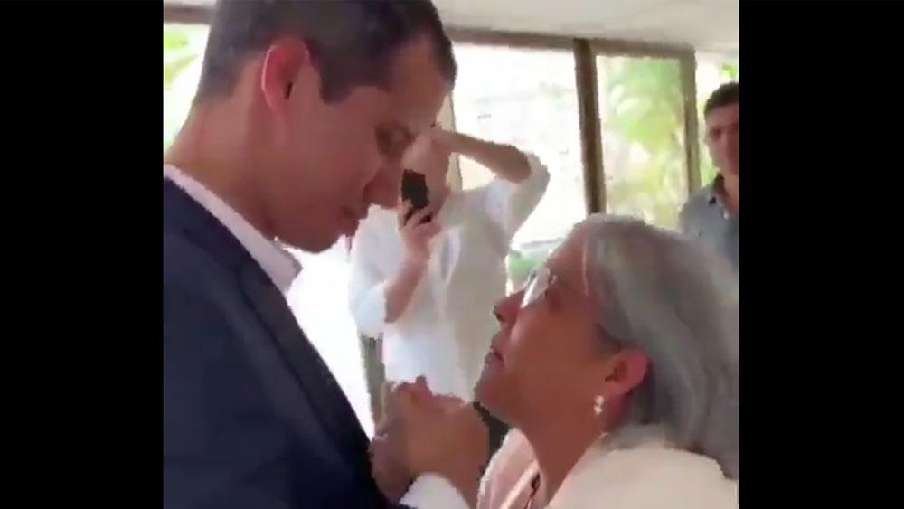 #Video El reencuentro entre Guaidó y su madre - Captura de pantalla