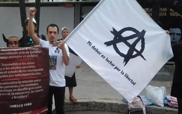Plantón y Paseo Ciclista afectarán el tránsito en la CDMX - Manifestación Antitaurina. Foto de @prensaanimal4