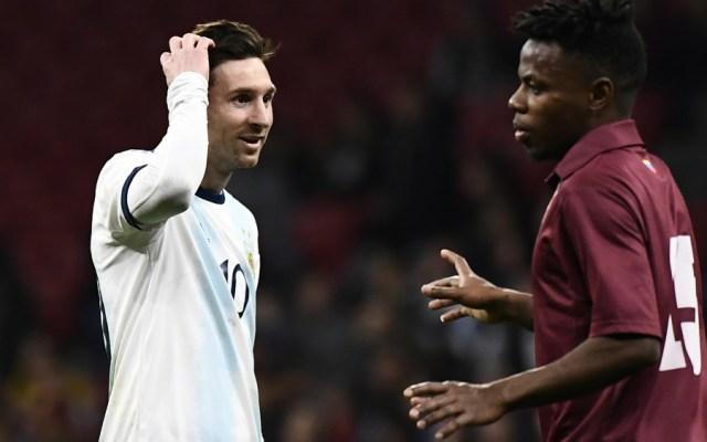 Venezuela arruina la vuelta de Messi con Argentina - Foto de Mexsport