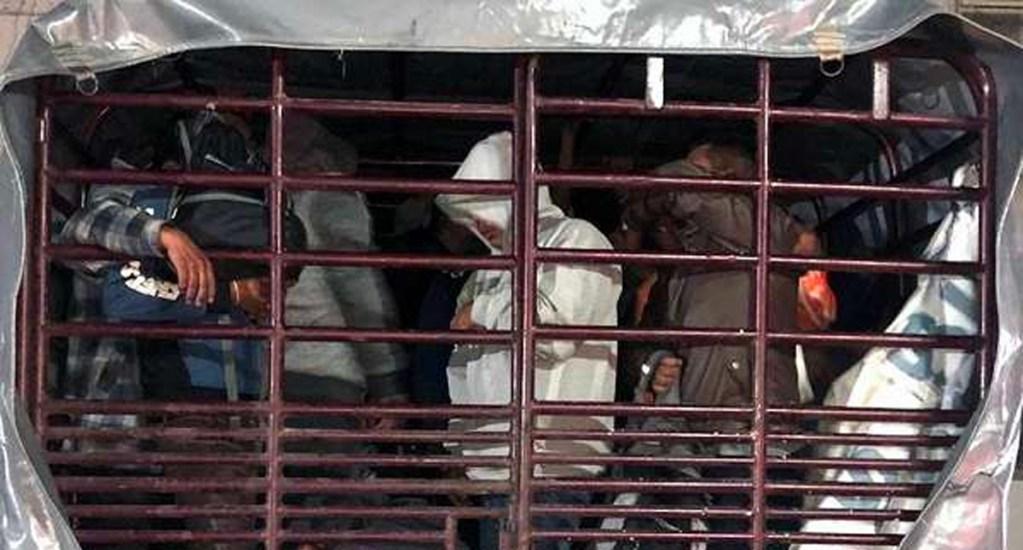 Rescatan a 103 migrantes en Chiapas, hay dos mexicanos detenidos - Foto de El Heraldo de México