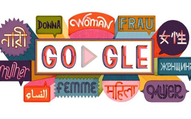 Google conmemora Día de la Mujer con frases célebres - La palabra 'mujer' en varios idiomas. Foto de Google
