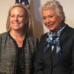 Olga Sánchez Cordero discutirá temas bilaterales con Kirstjen Nielsen - Foto de @SEGOB_mx