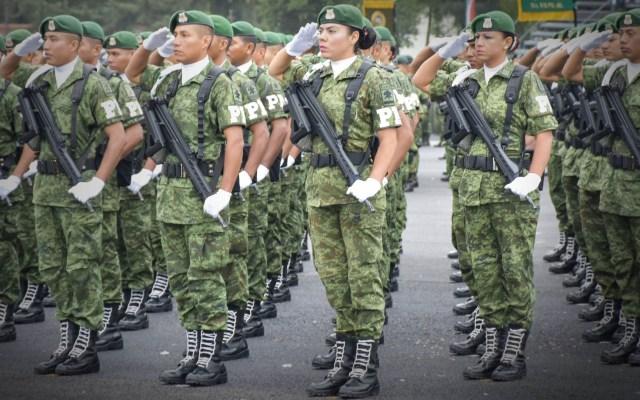 ASF fiscalizará recursos federales que se apliquen en seguridad a estados - Elementos de la Policía Militar. Foto de Sedena