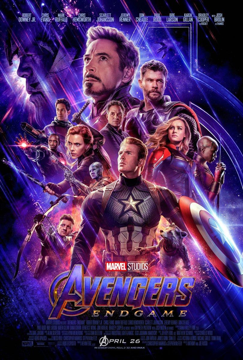 Póster Avengers: Endgame. Foto de @Avengers
