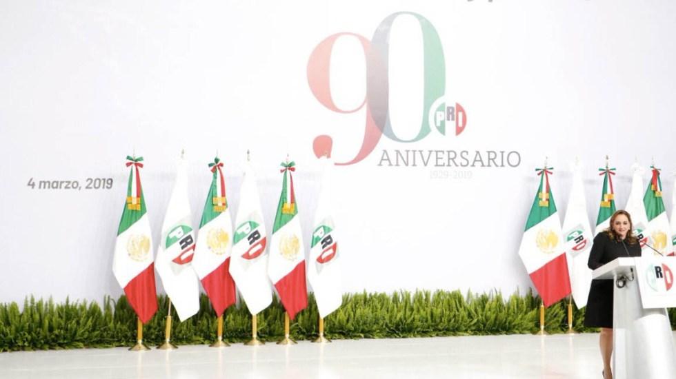 PRI celebra su 90 aniversario de cara a cambio de dirigencia - Foto de @ruizmassieu