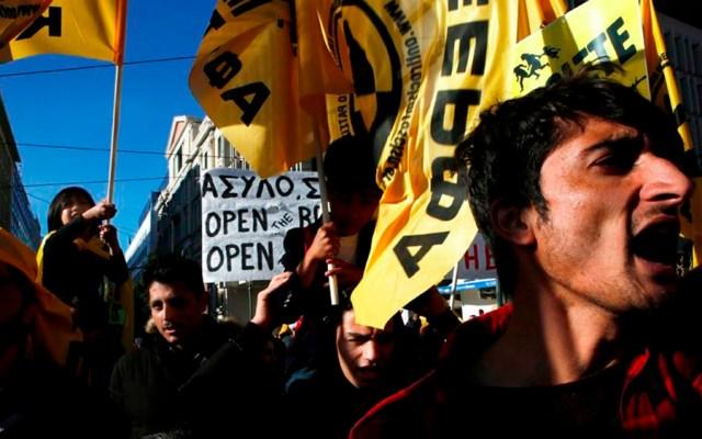Protestan contra la 'islamofobia' en Atenas - Foto de @YannisKolesidis