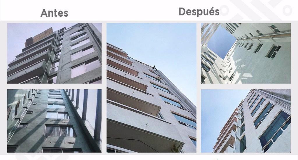 Entregan rehabilitación de edificio afectado por sismo en la CDMX - Rehabilitación del Edificio Uxmal. Foto de @GobCDMX