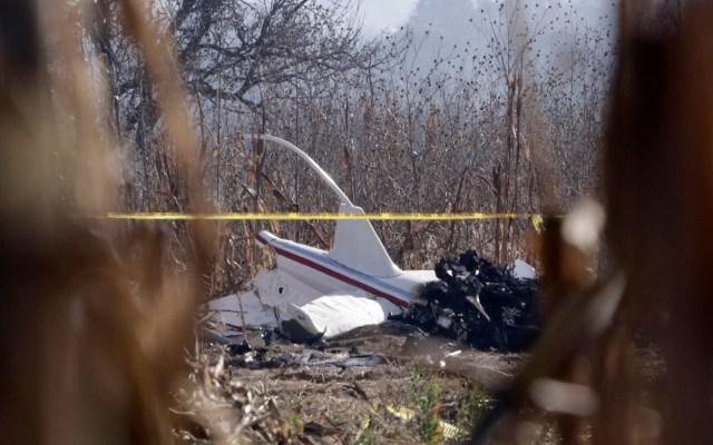 Fiscalía de Puebla deberá revelar videos sobre accidente aéreo - Restos del helicóptero accidentado en Puebla. Foto de Notimex