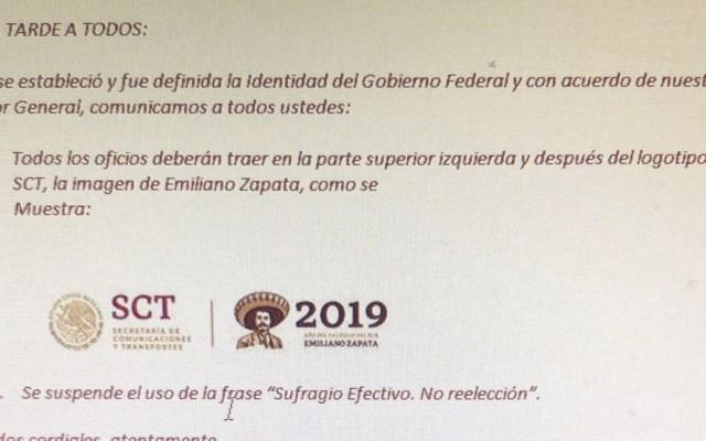 SCT aclara polémica por frase 'Sufragio Efectivo. No Reelección' - Foto de Twitter