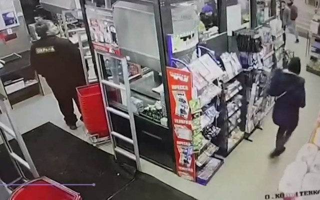 #Video Piso de supermercado colapsa con todo y clientes - Supermercado antes del colapso de su piso. Captura de pantalla