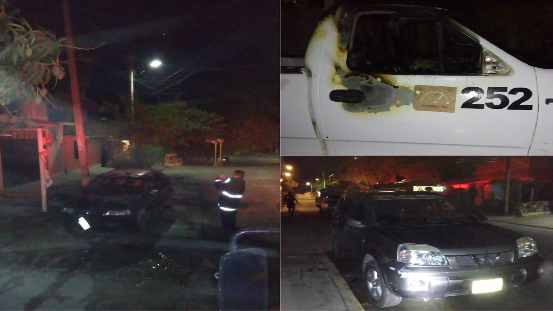 Vehículos incendiados. Foto de Red Noticias