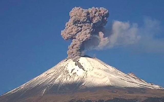 Prevén caída de ceniza del Popocatépetl en siete alcaldías - Foto de @PC_Estatal
