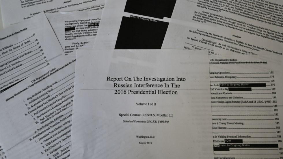 Representantes exigen acceso al informe completo de Robert Mueller - representantes demócratas investigación robert mueller