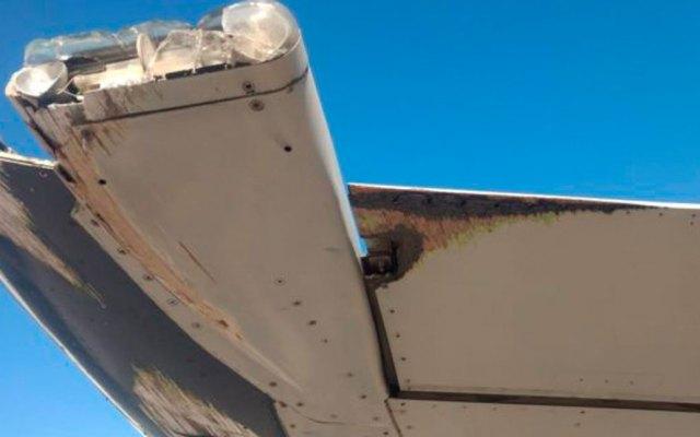 #Video Avión de Aeroméxico golpea ala contra pista durante despegue