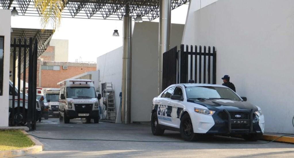 Una patrulla resguarda la Cruz Roja de Salamanca. Noticias en tiempo real