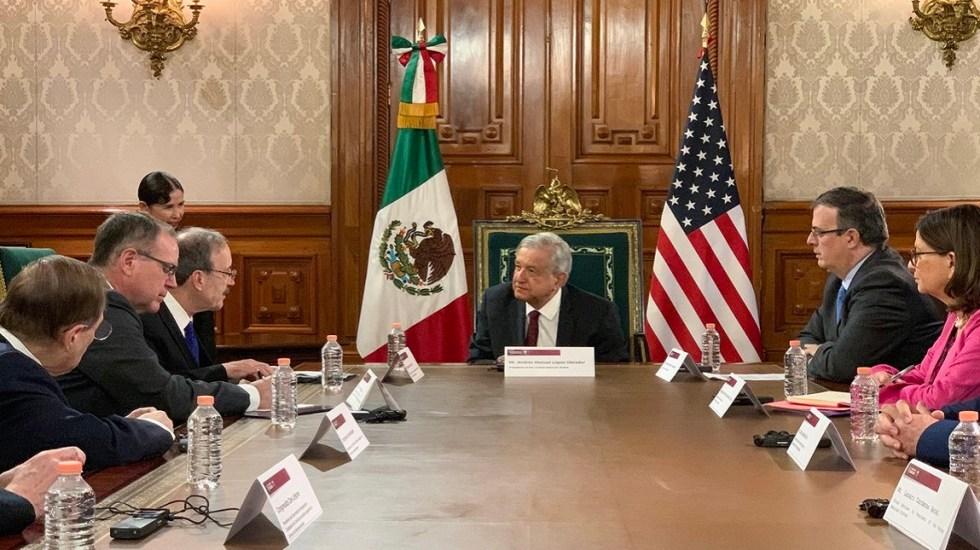 AMLO discute sobre muro y Venezuela con congresistas de EE.UU. - AMLO con congresistas de EE.UU. Foto de @lopezobrador_